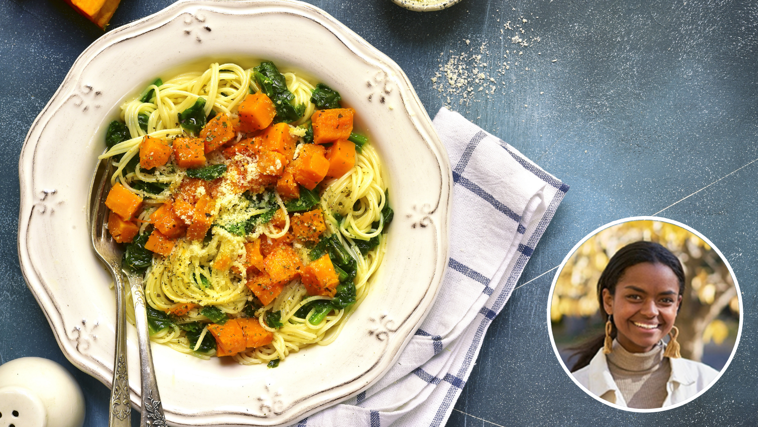 Image for Virtual Class – Budget Cooking: Butternut Squash Pasta with Kale