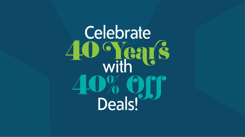 Image for Celebrate 40 Years with 40% Off Deals