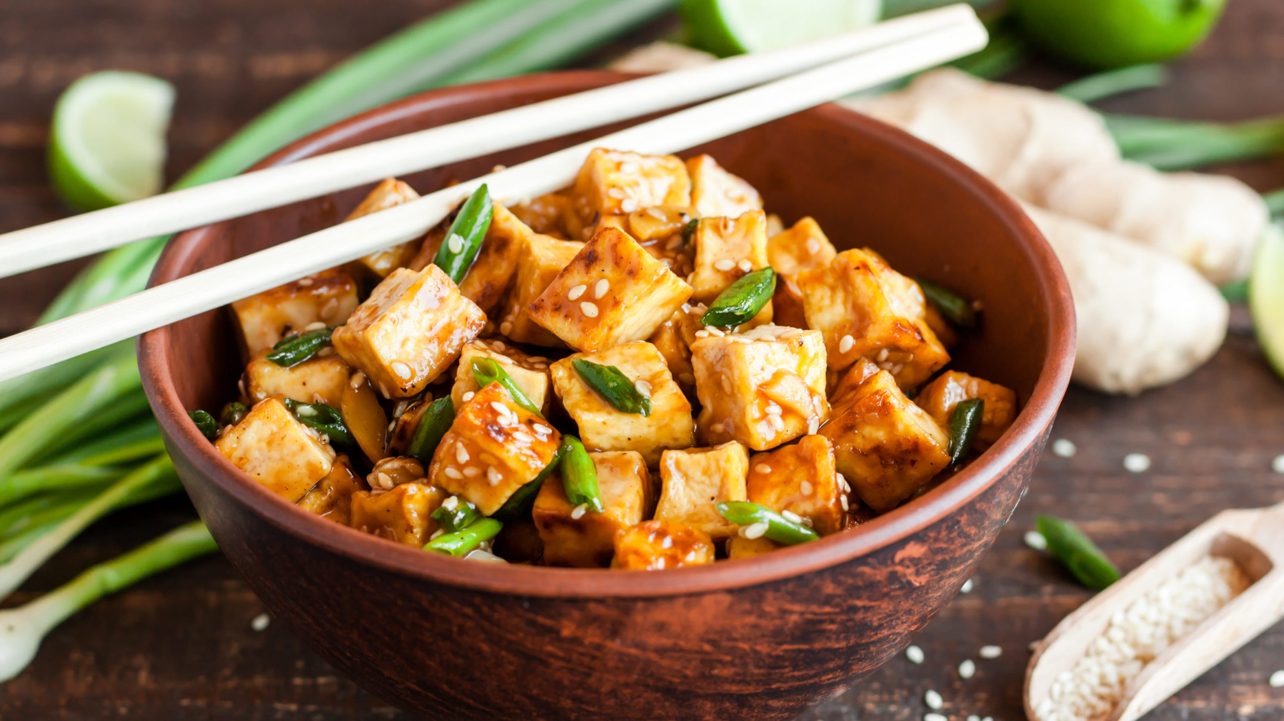 Image for Virtual Budget Cooking: Spicy Honey Garlic Tofu Bowls