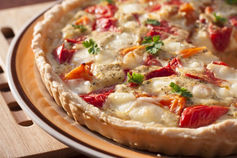 Image for Tomato Chevre Tart with Herbs