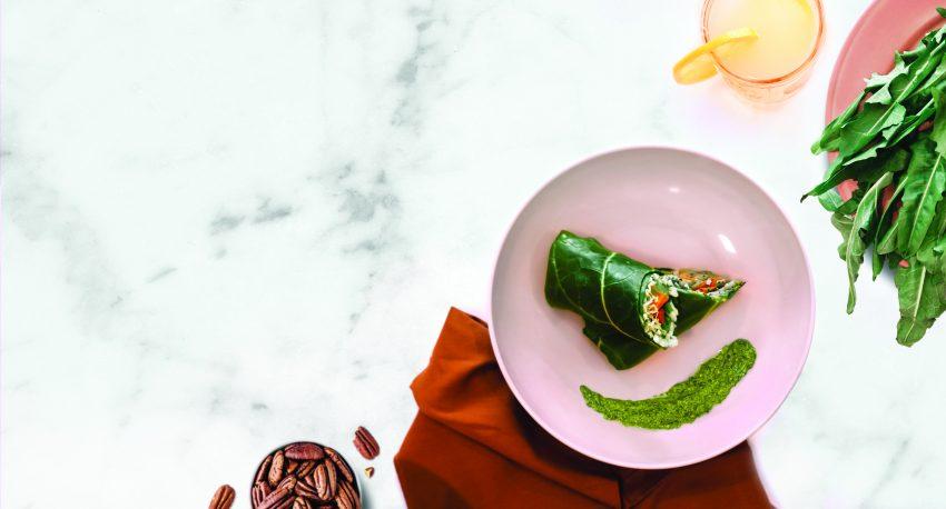 Image for Collard Green Wraps with Spicy Garden Pesto