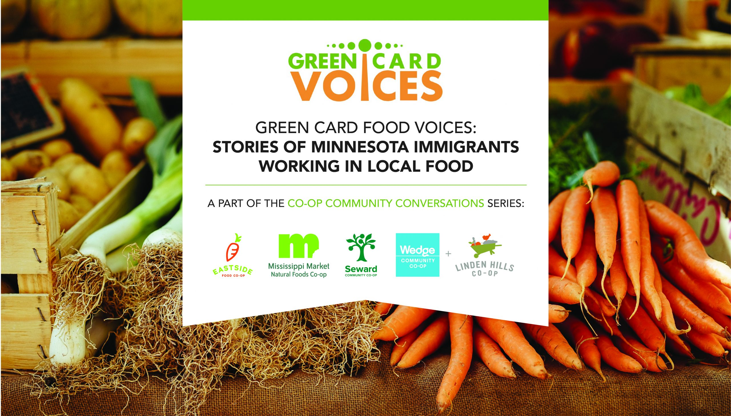 Image for Co-op Community Conversations: Green Card Food Voices