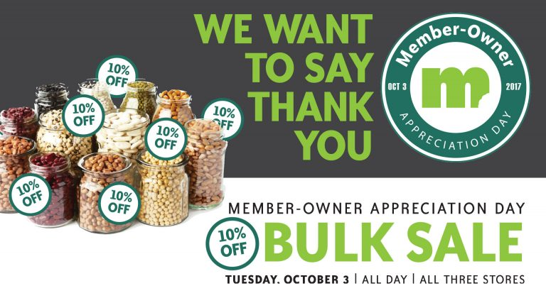Image for 2017 Member-Owner Appreciation Day Bulk Sale