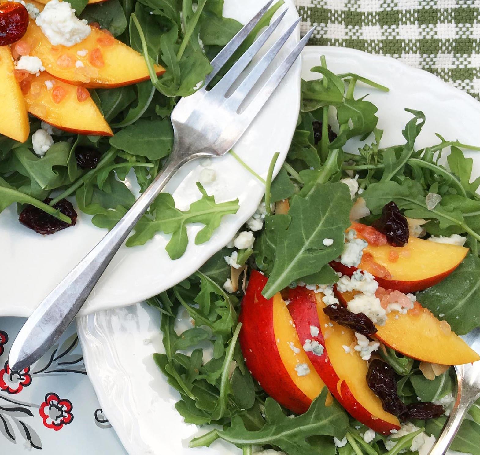 Image for Fresh Nectarine & Gorgonzola Salad