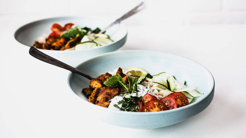 Image for Cooking with Co+op Basics: Tofu Shawarma Bowls