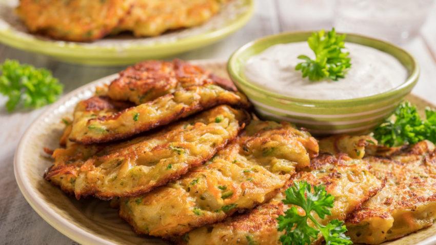 Image for Zucchini-Parmesan Latkes