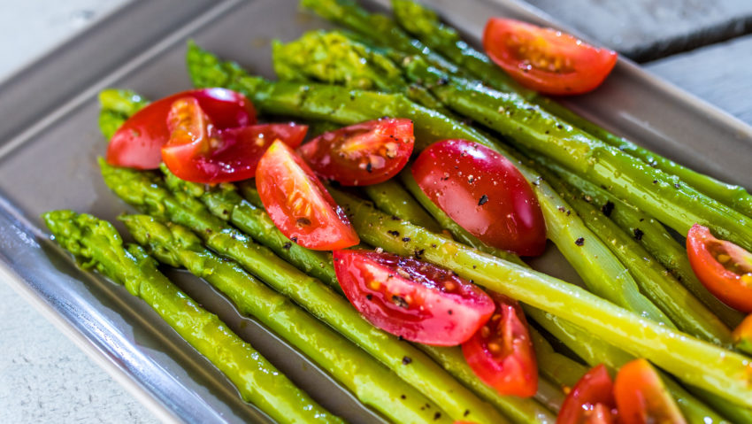 Image for Asparagus with Balsamic Tomatoes