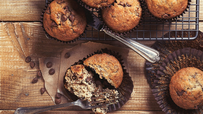 Image for Vegan Banana Chocolate Chip Muffins