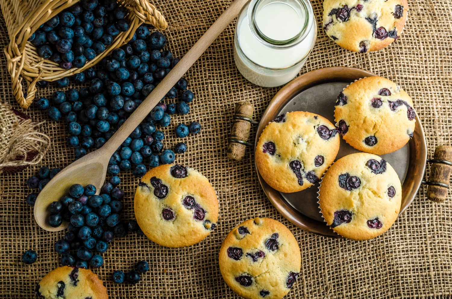 Image for Banana & Blueberry Protein Muffins