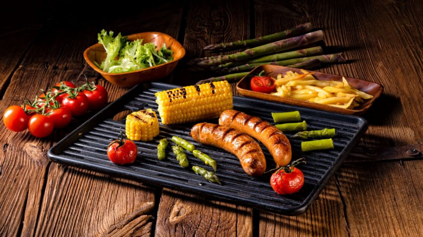 Image for Brat & Potato Salad with Grilled Corn