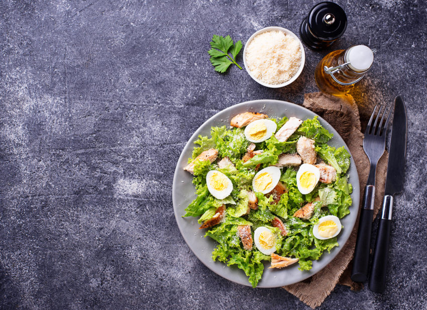 Image for Creamy Caesar Salad with Fresh Croutons