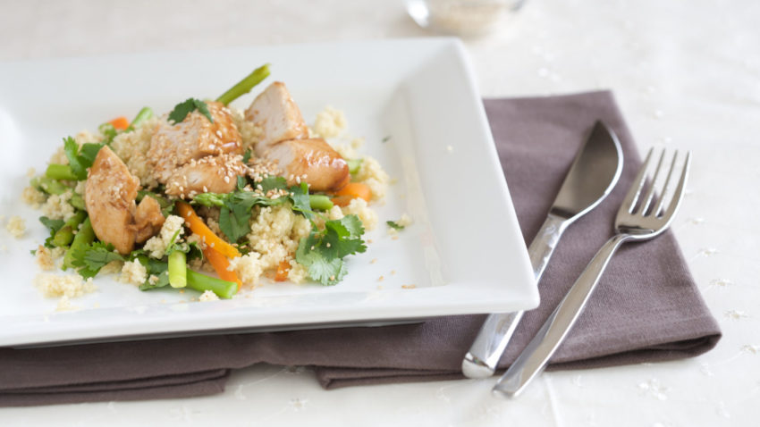 Image for Budget Cooking at the Co-op: Herby Couscous with Snap Peas & Chicken