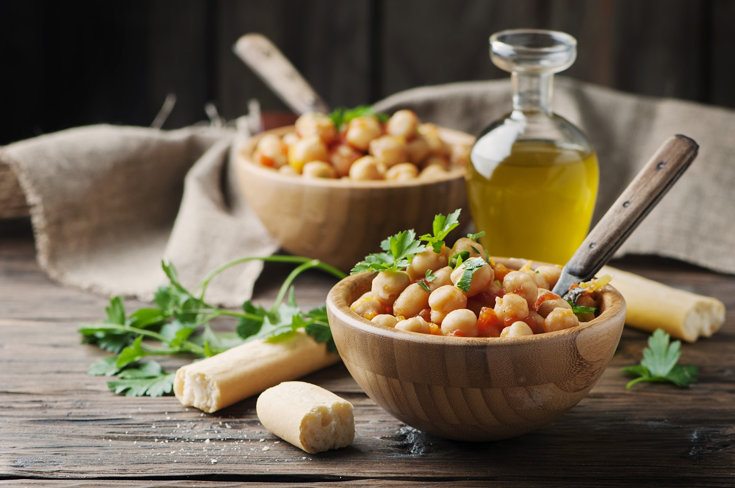 Image for Carrots with Chickpeas & Pine Nuts
