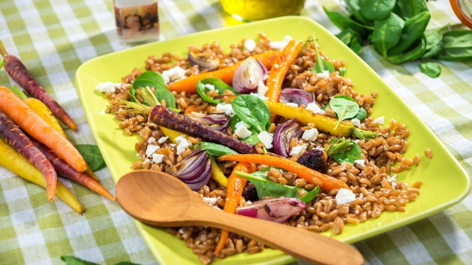 Image for Budget Cooking at the Co-op: Farro & Cumin-Roasted Carrot Salad