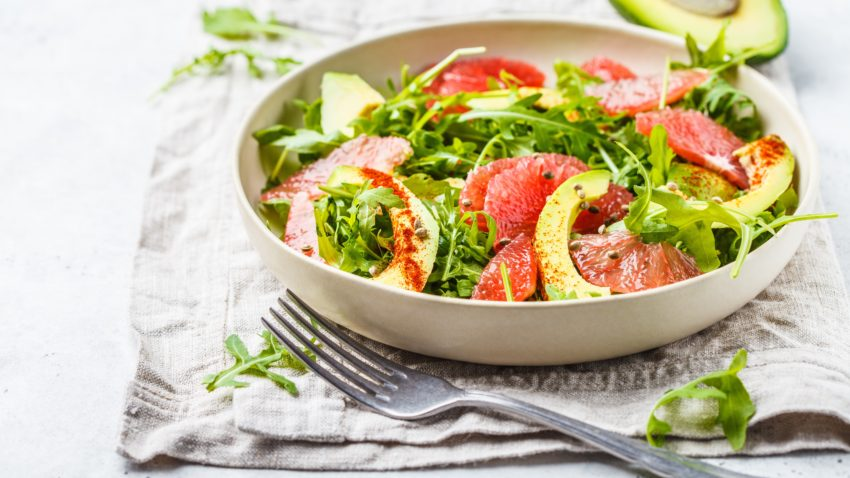 Image for Grapefruit & Avocado Arugula Salad