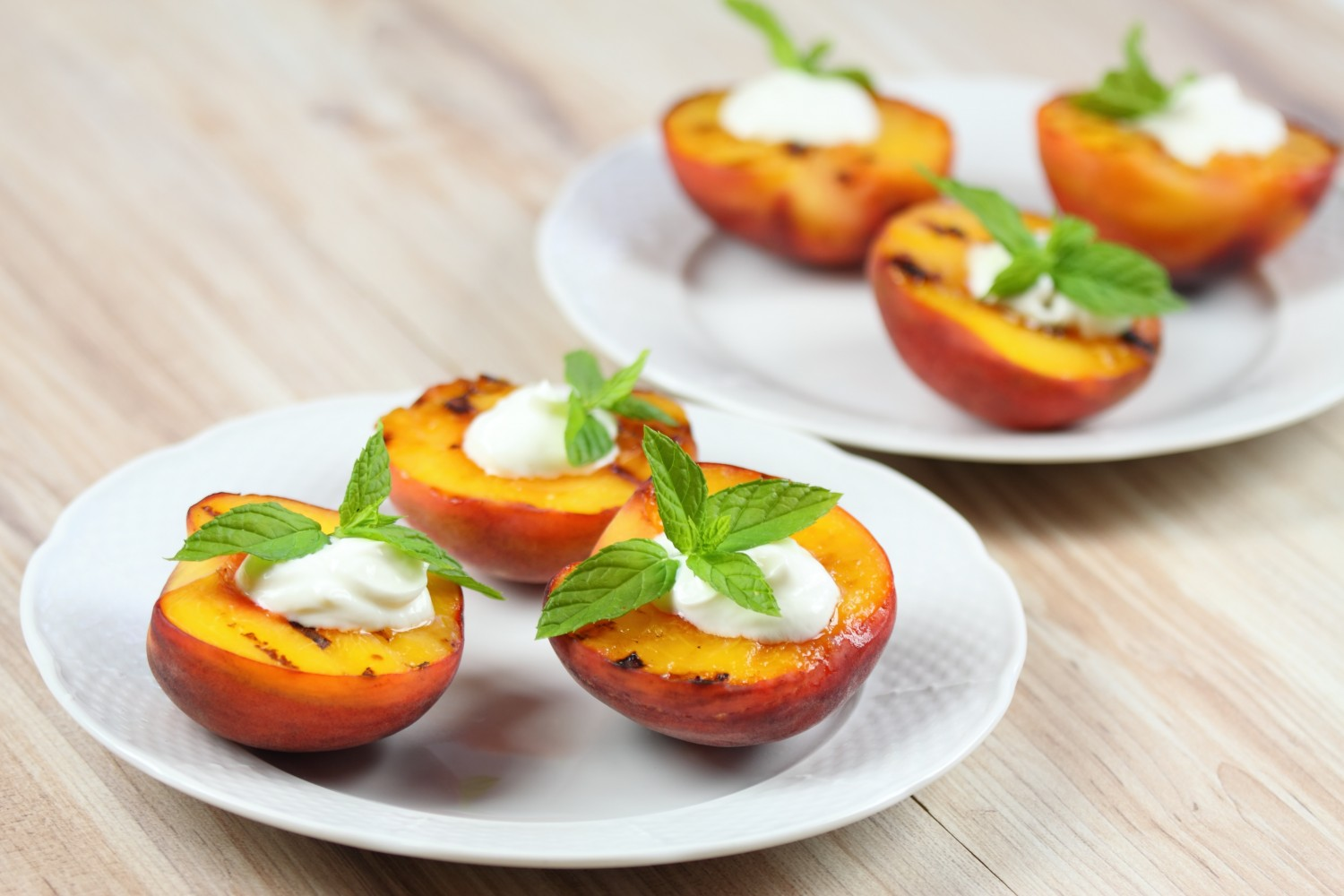 Image for Grilled Peaches with Greek Yogurt