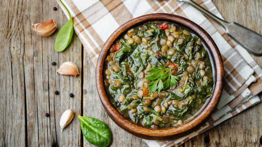 Image for Lemony Lentil Spinach Soup