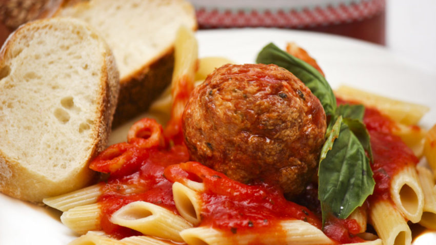 Image for Turkey Meatballs with Penne Pasta