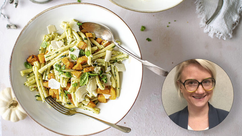 Image for Virtual Budget Cooking: Pasta with Kale Pesto and Roasted Winter Squash