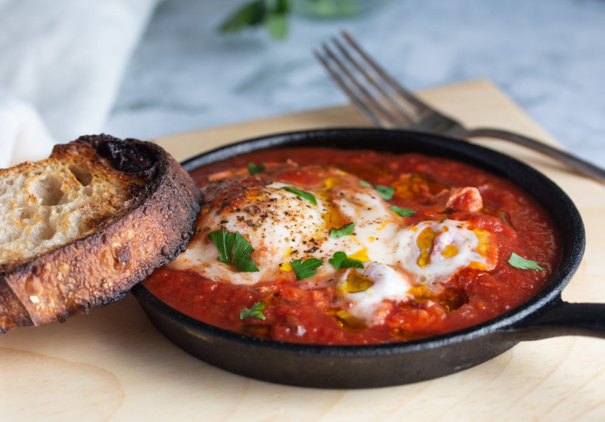 Image for Poached Eggs in Marinara Sauce
