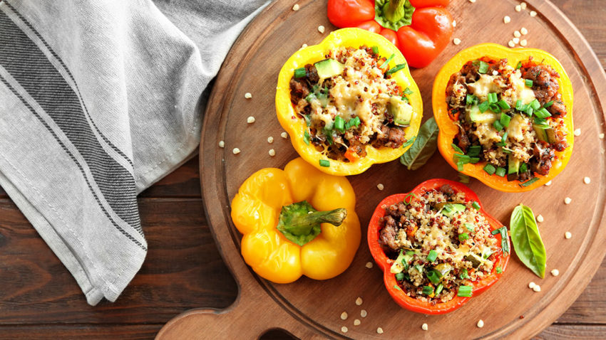 Image for Enchilada Quinoa Stuffed Peppers