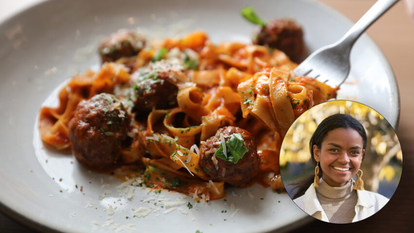 Image for Virtual Budget Cooking: Eggplant Meatballs with Pasta