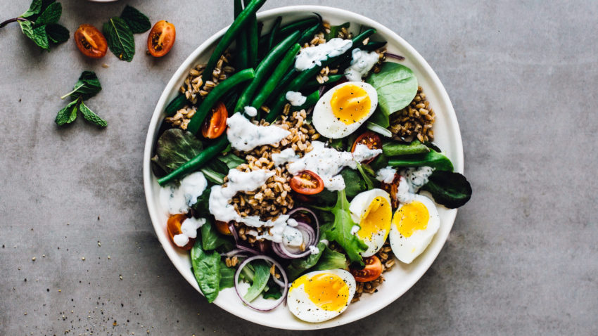 Image for Whole Grain Salad with Mint Yogurt Dressing