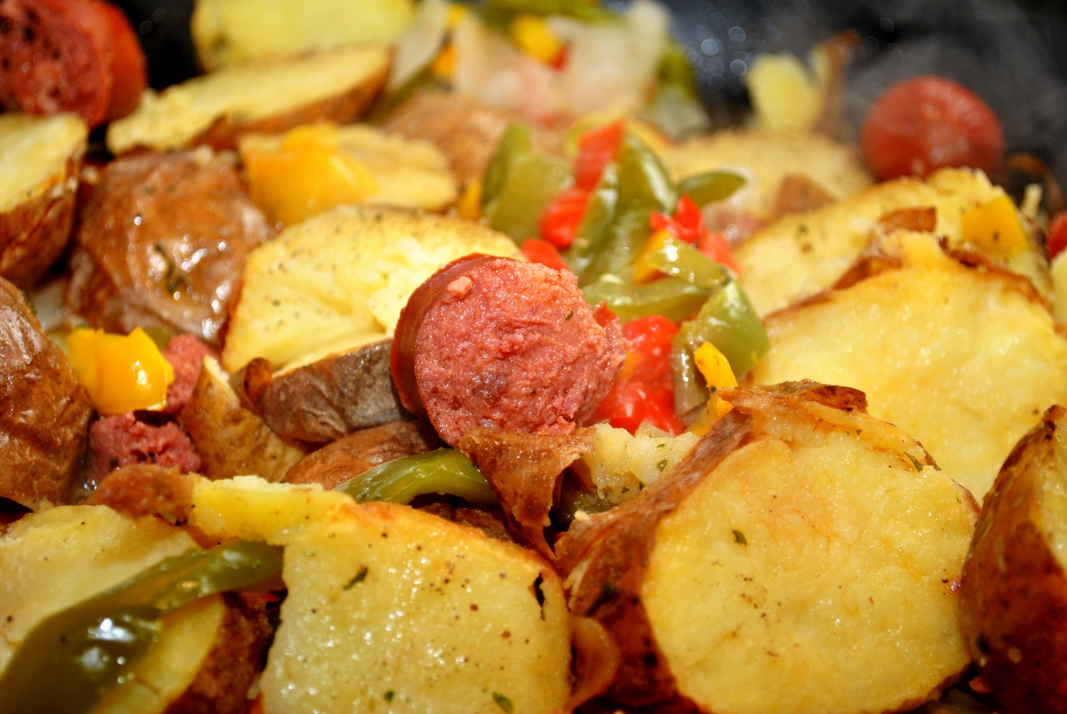 Image for Kielbasa with Potatoes and Peppers