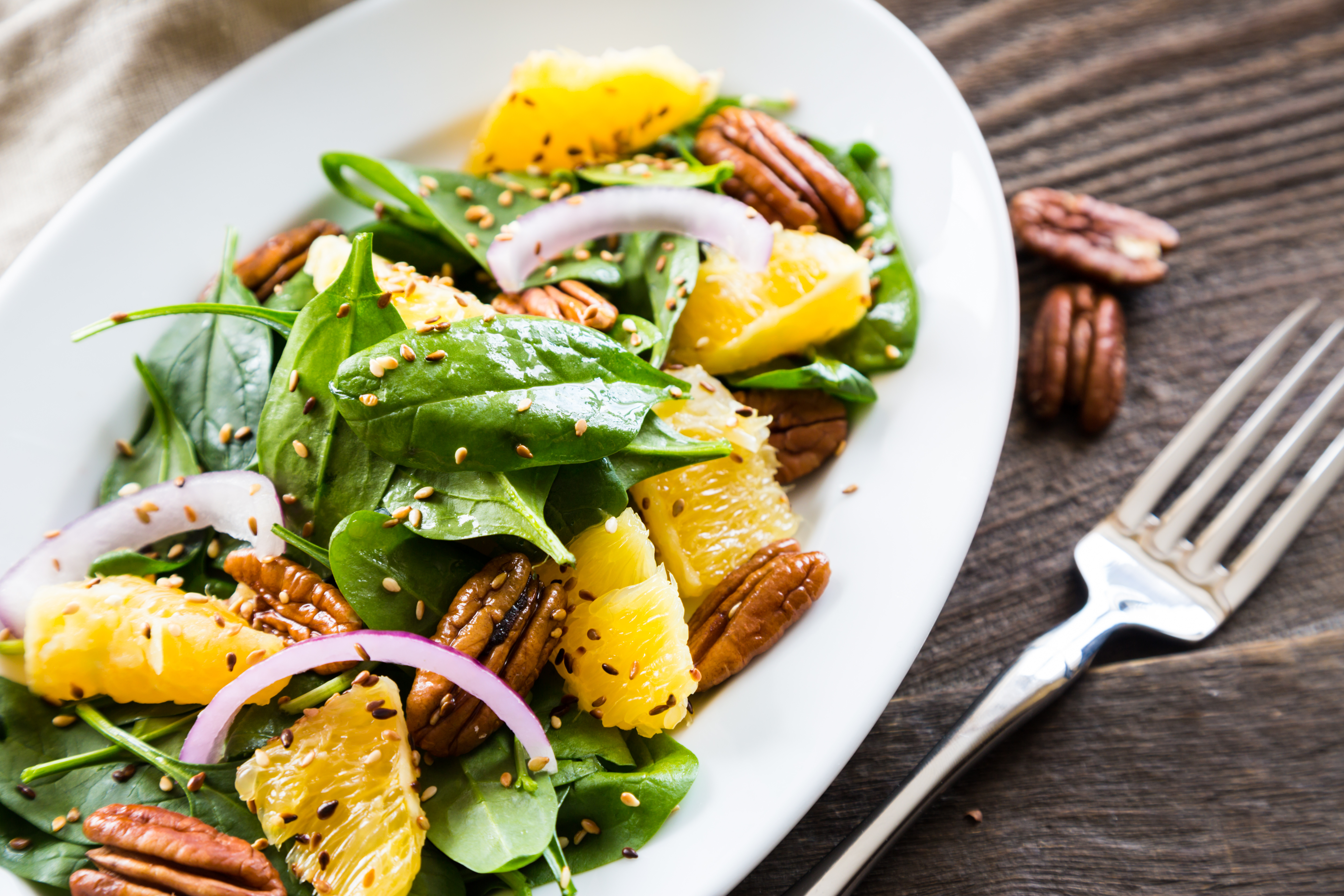 Image for Spinach Salad with Mandarins & Pecans