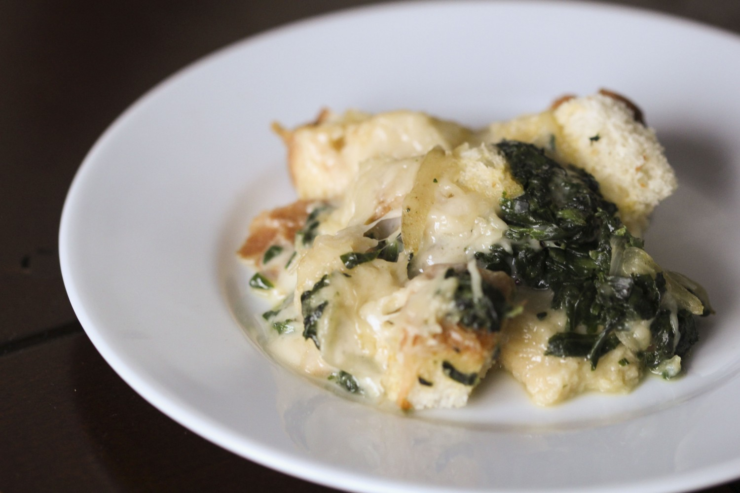 Image for Spinach and Swiss Cheese Strata