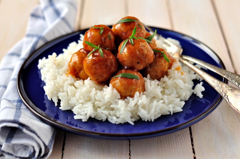 Image for Sriracha Glazed Turkey Meatballs