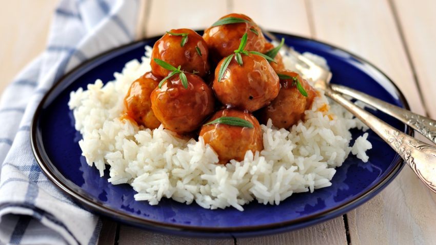 Image for Sriracha Glazed Turkey Meatballs