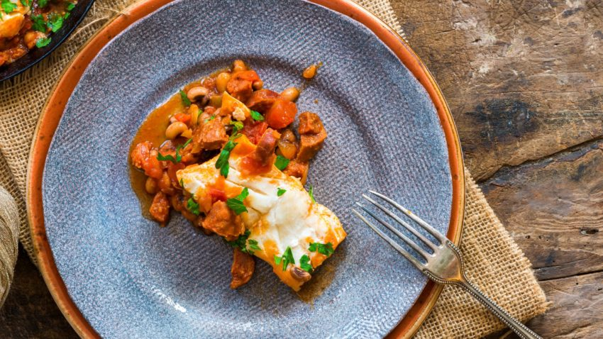 Image for Baked White Fish with Chorizo